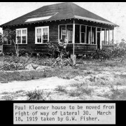 Paul Kleener house moved from right of way