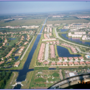 aerial canal photo