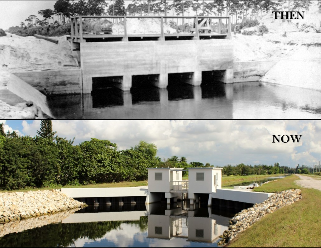 LWDD Water Control Structure - Then & Now