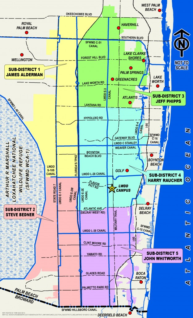 Sub District Election Map Lake Worth Drainage District