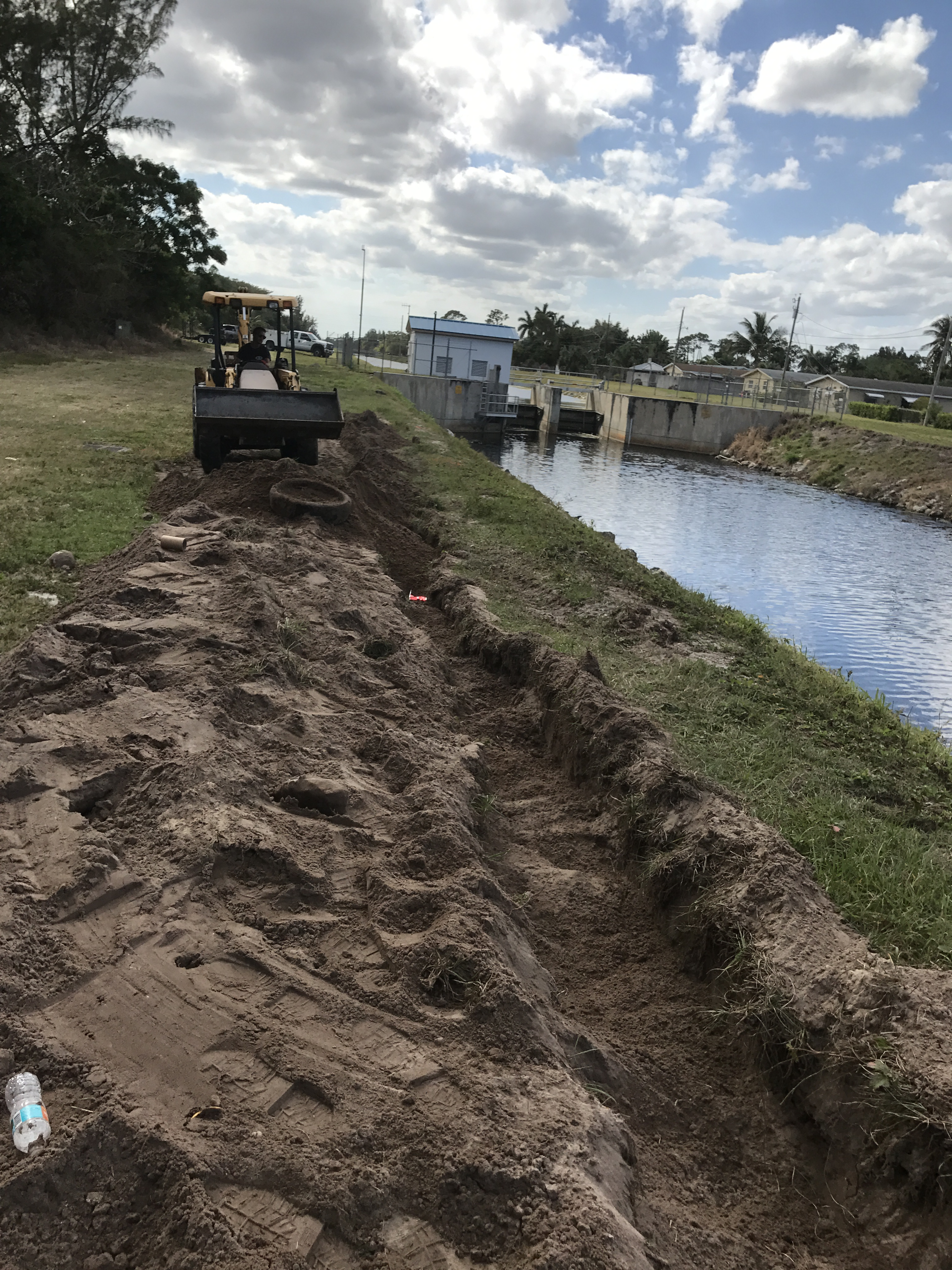 Repair work to canal