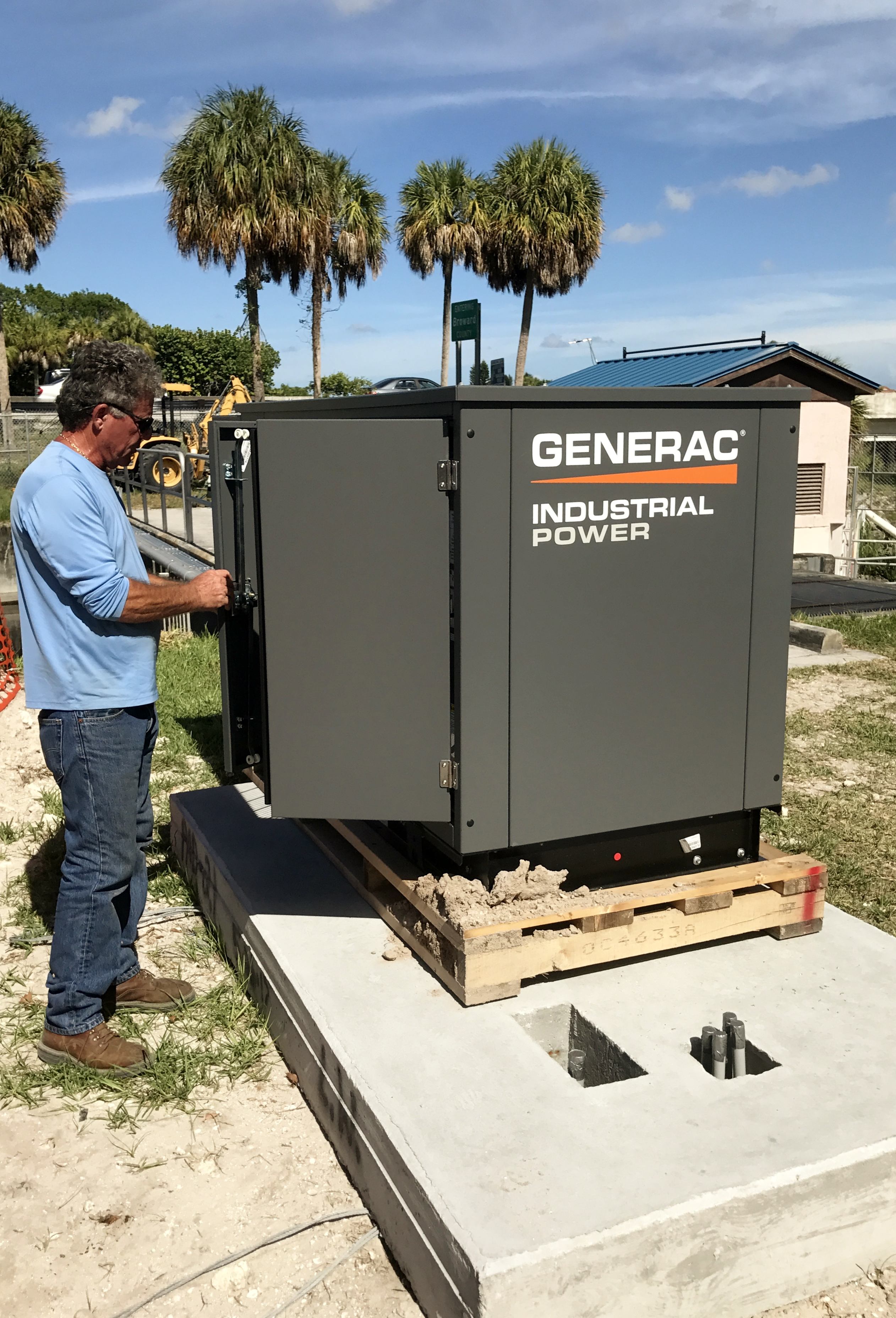 emergency back-up generator
