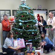 LWDD Staff with gifts